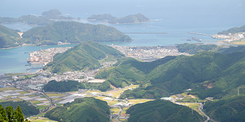 桑田山の山頂〜蟠蛇森から望む須崎市街地