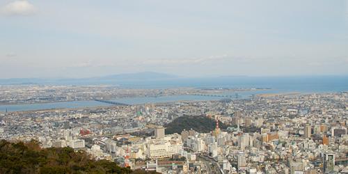 眉山山頂から見た徳島市街
