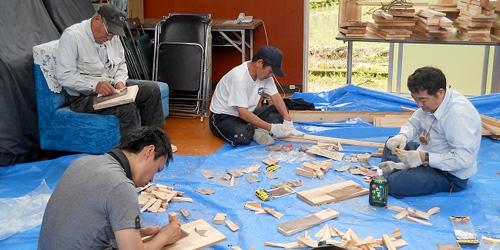 こうち森林救援隊-木工作業