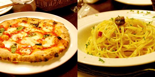 フェデリコ特製ピザとパスタ